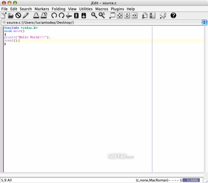 jEdit Screenshot 2