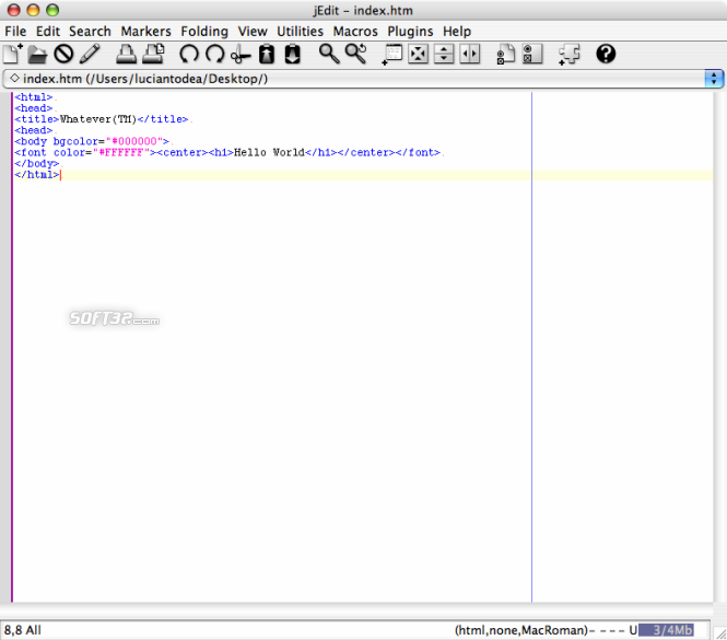jEdit Screenshot 3
