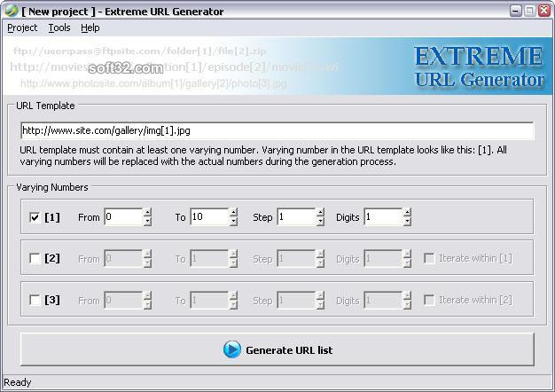 Extreme URL Generator Screenshot 3