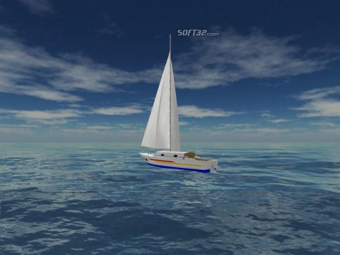 Sea Yacht Cruise 3D Screensaver Screenshot 2