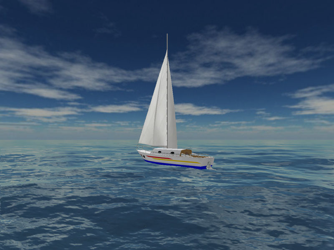Sea Yacht Cruise 3D Screensaver Screenshot
