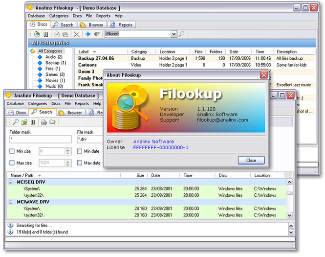 Filookup Screenshot