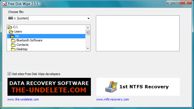 Free Disk Wipe Screenshot