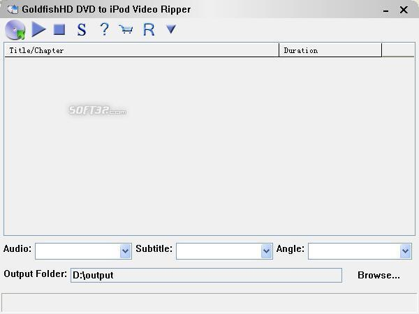 GoldfishHD DVD to iPod Video Ripper Screenshot 2