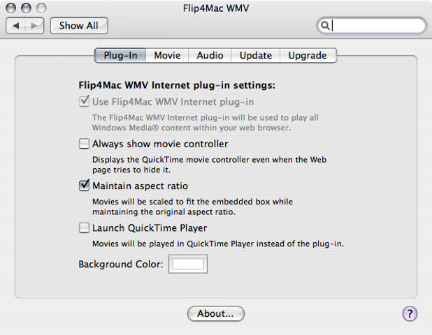 Flip4Mac WMV Player Publisher's Description