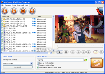 SoftPepper iPod Video Converter Screenshot