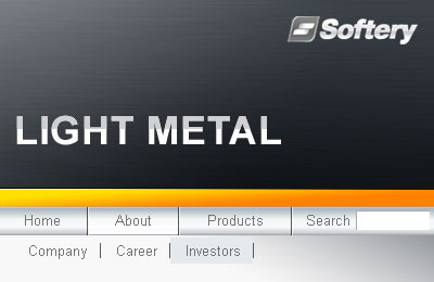 Light Metal Flash Menu Screenshot