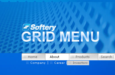Grid Flash Menu Screenshot