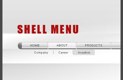 Shell Flash Menu Screenshot