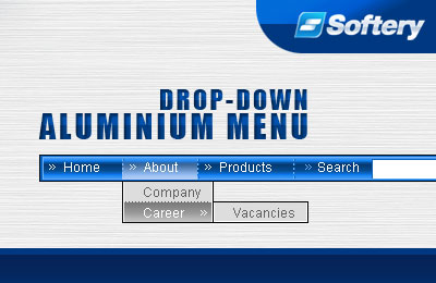 Aluminium Drop-Down Flash Menu Screenshot