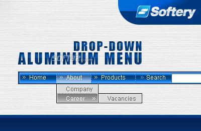 Aluminium Drop-Down Flash Menu Screenshot 3
