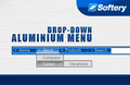 Aluminium Drop-Down Flash Menu 1