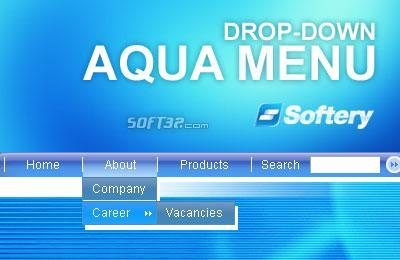 Aqua Drop-Down Flash Menu Screenshot 3