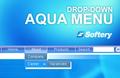 Aqua Drop-Down Flash Menu 1