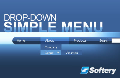 Simple Drop-Down Flash Menu Screenshot 1