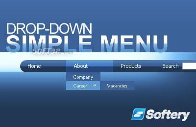 Simple Drop-Down Flash Menu Screenshot 3
