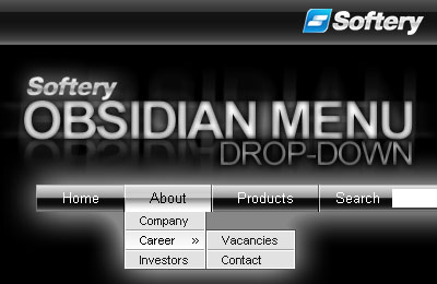 Obsidian Drop-Down Flash Menu Screenshot 1