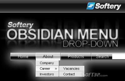 Obsidian Drop-Down Flash Menu Screenshot 3