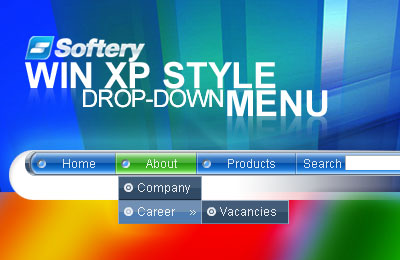 WinXP Style Drop-Down Flash Menu Screenshot 1