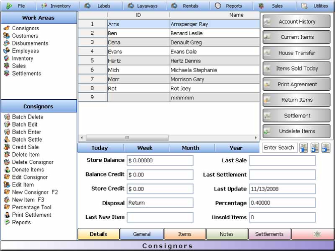 Pawnbroker Pawn Shop Software Screenshot
