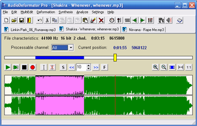 AudioDeformator Pro Screenshot