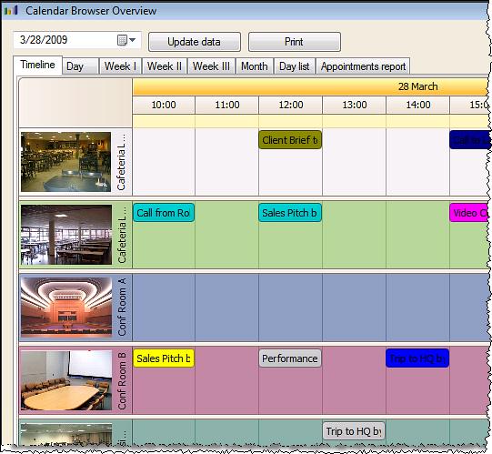 Calendar Browser Screenshot