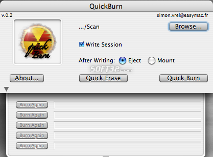 QuickBurn Screenshot 2