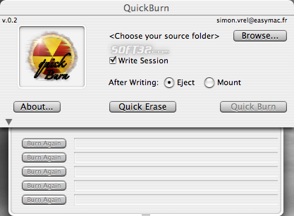 QuickBurn Screenshot