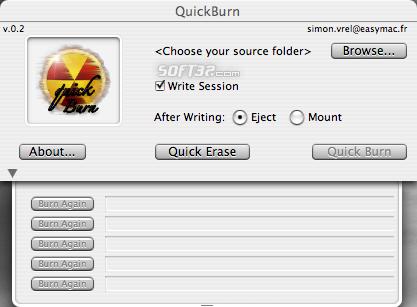 QuickBurn Screenshot 1