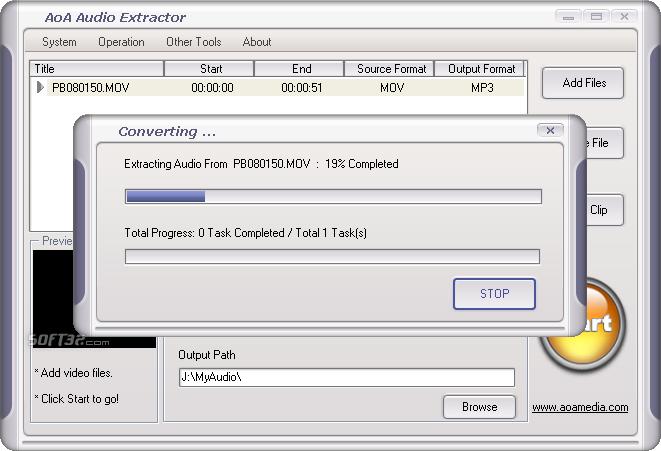 AoA Audio Extractor Screenshot 3