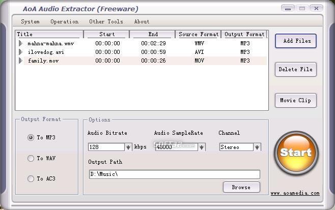 AoA Audio Extractor Screenshot 2