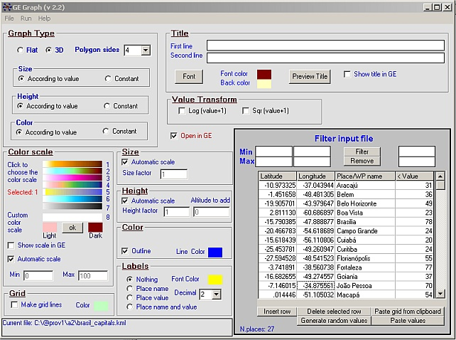 GE-Graph Screenshot