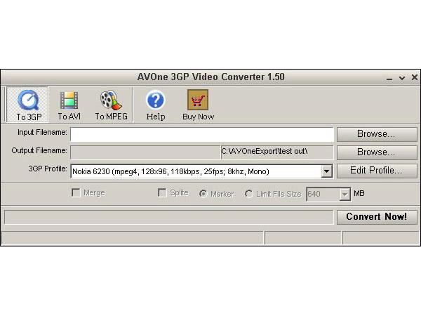 AVOne 3GP Video Converter Screenshot 1