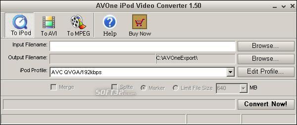 AVOne iPod Video Converter Screenshot 2