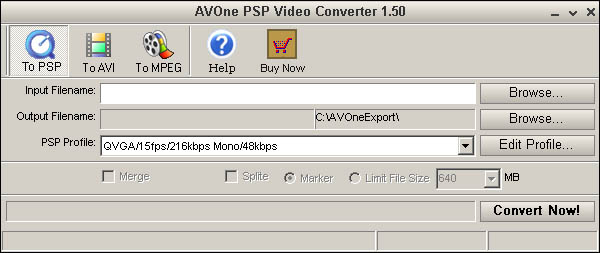 AVOne PSP Video Converter Screenshot