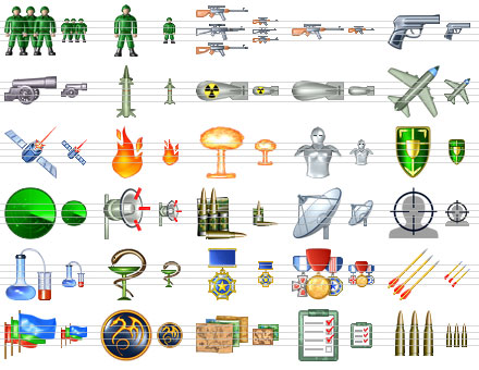 Military Icon Set Screenshot