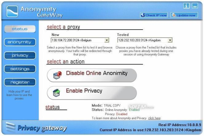 Anonymity Gateway Screenshot 2