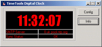 Digital Wall Clock Screenshot