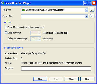 Colasoft Packet Player Screenshot