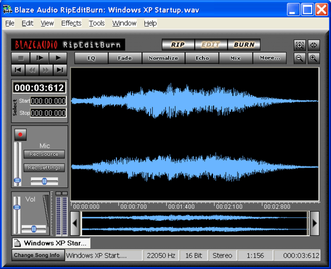 Blaze Audio RipEditBurn Plus Screenshot