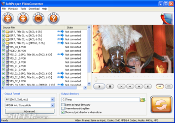 SoftPepper VideoConverter Screenshot