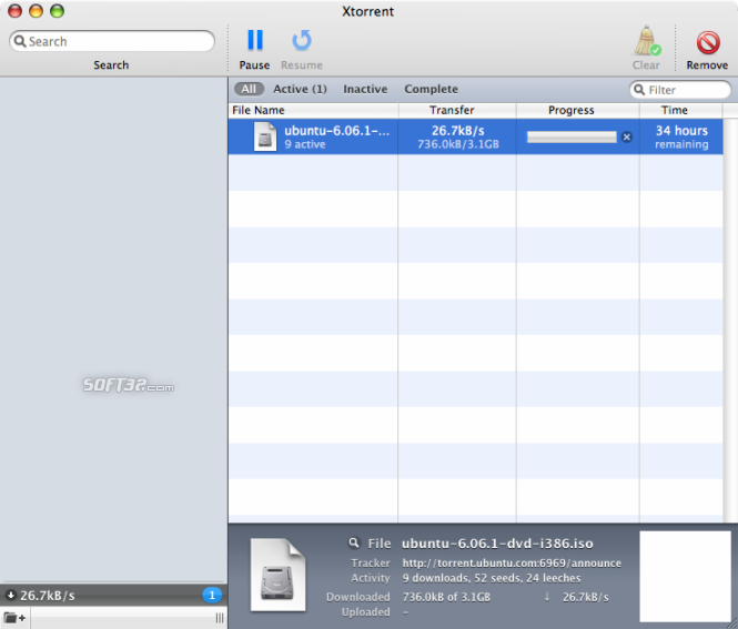 Xtorrent Screenshot 1