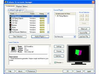 ProSaver Screensaver Manager Screenshot