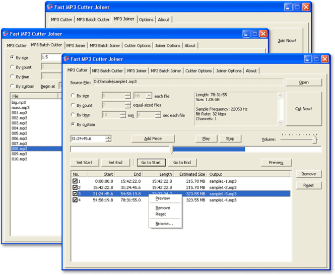 Fast MP3 Cutter Joiner Screenshot