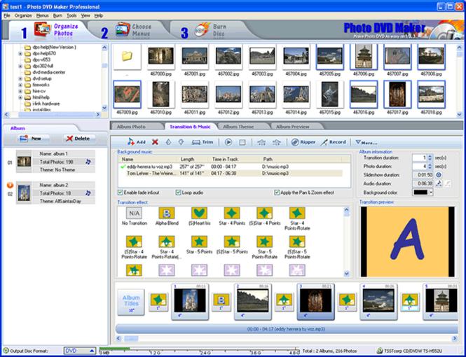 Photo DVD Maker Professional Screenshot