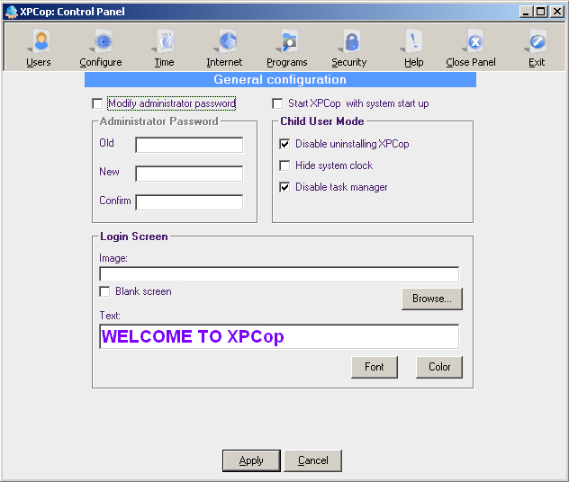 XPcop Screenshot 1