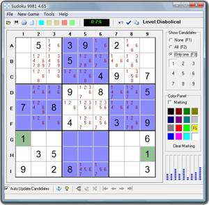 Sudoku 9981 Screenshot