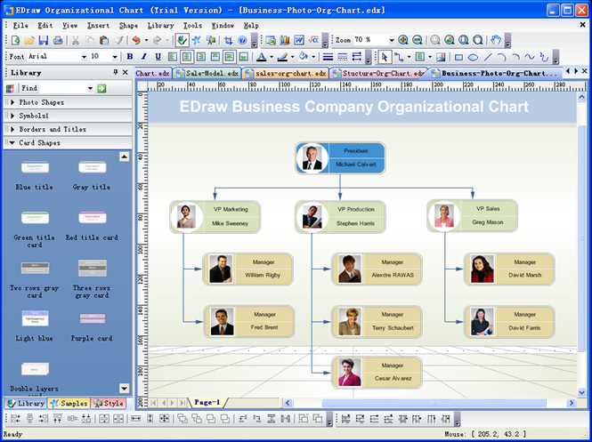 Edraw Organizational Chart Screenshot
