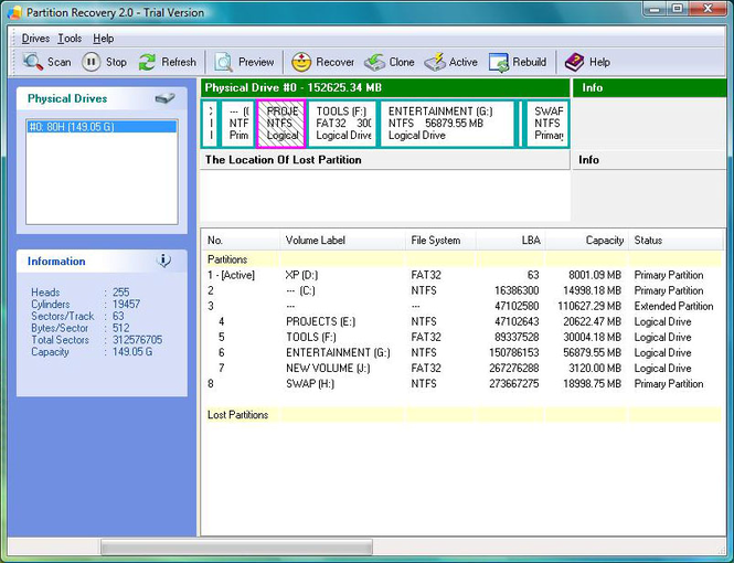 Meetsoft Partition Recovery Screenshot 1