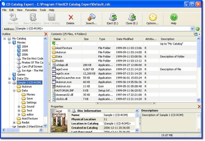 CD Catalog Expert Screenshot 3